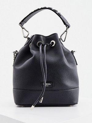 Черная кожаная сумка Lancel