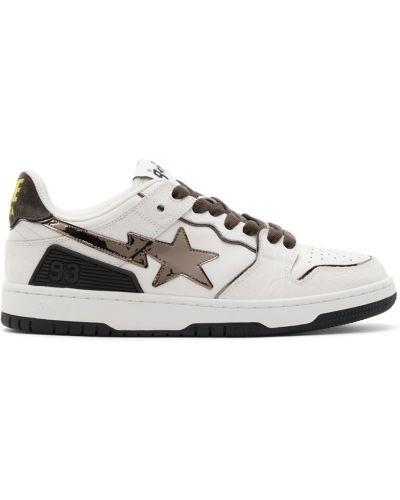 Białe sneakersy na obcasie Bape