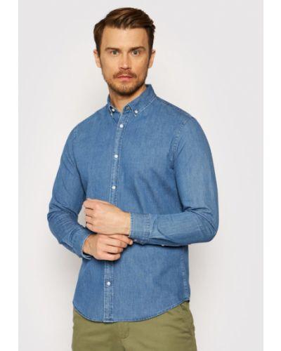 Niebieska koszula jeansowa Jack&jones