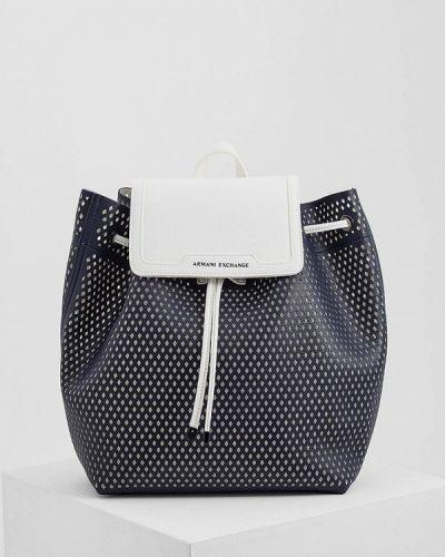 Синий рюкзак Armani Exchange