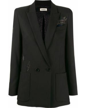 Пиджак черный в полоску Zadig&voltaire