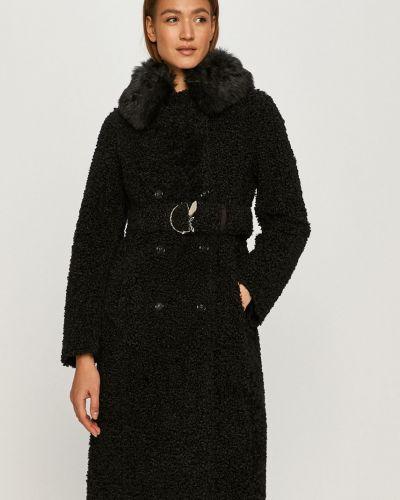Czarna kurtka z kapturem zapinane na guziki Patrizia Pepe
