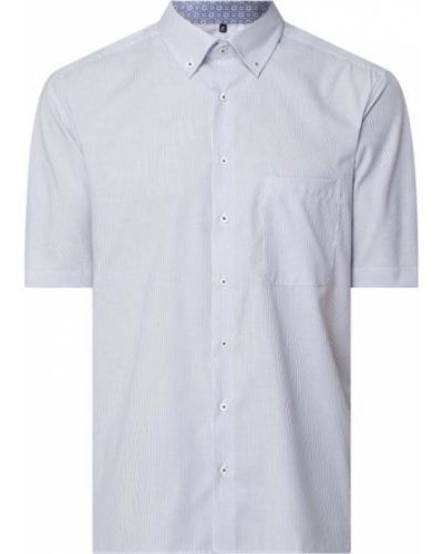 Koszula bawełniana krótki rękaw w paski Eterna