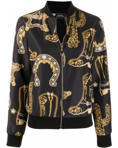 Куртка черная на молнии Versace Collection