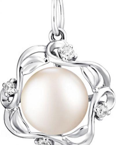 Серебряная подвеска с жемчугом серебряный De Fleur