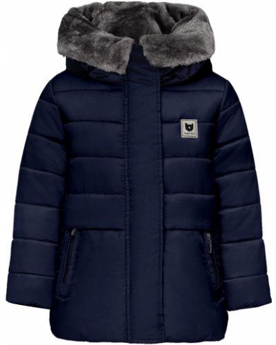 Утепленная пуховая синяя куртка Button Blue