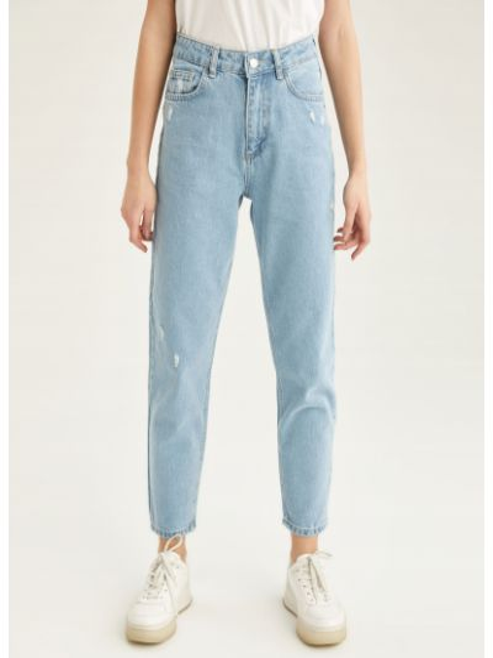 Хлопковые джинсы с карманами на молнии Defacto