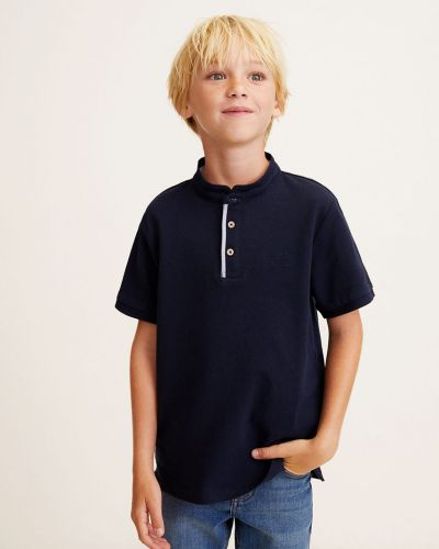 Футболка однотонная синяя Mango Kids