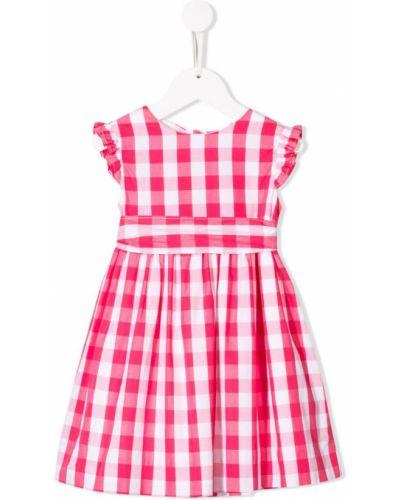 Платье с рукавами плиссированное розовый Amaia