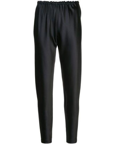 Черные брюки с поясом узкого кроя Peter Cohen