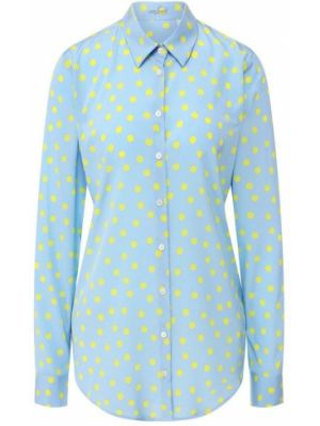 Шелковая рубашка - голубая Van Laack