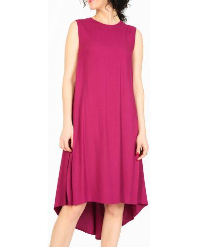 Платье розовое с разрезами по бокам Glam Casual