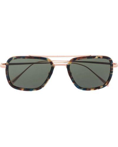 Коричневые солнцезащитные очки металлические Billionaire