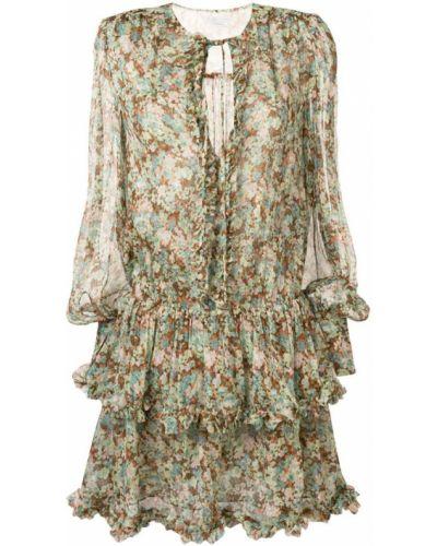 Платье с цветочным принтом с заниженной талией Stella Mccartney