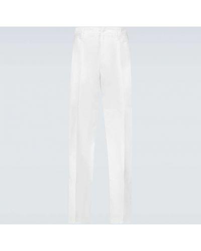 Białe spodnie skorzane na co dzień Acne Studios
