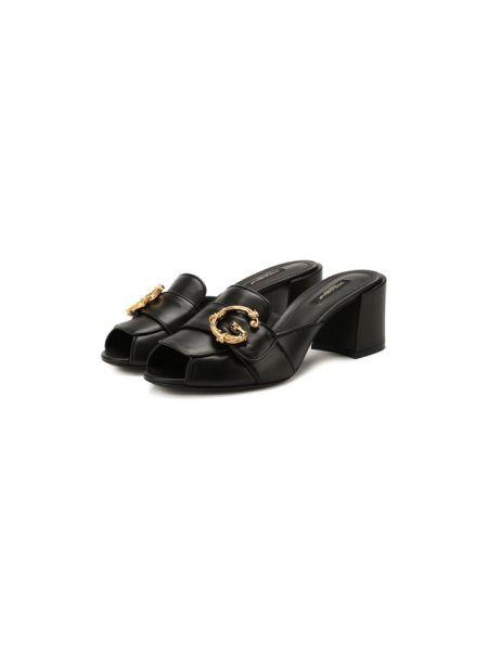 Мюли кожаные на каблуке Dolce & Gabbana