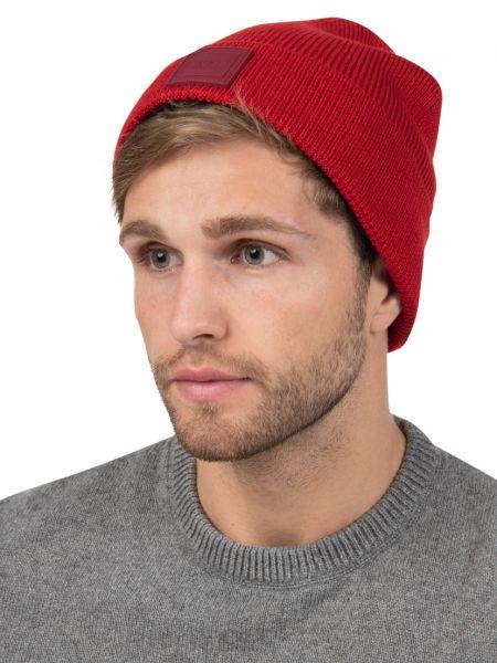 Красная шерстяная шапка Hugo Boss