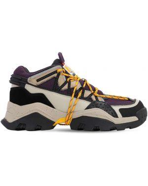 Кожаные кроссовки на шнуровке с логотипом Kenzo