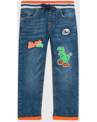 Синие прямые джинсы с поясом Ostin