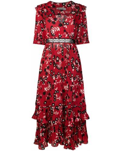Облегающее платье с цветочным принтом с запахом Self-portrait