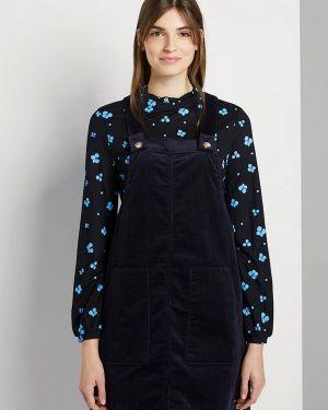 Джинсовое платье платье-сарафан синее Tom Tailor Denim