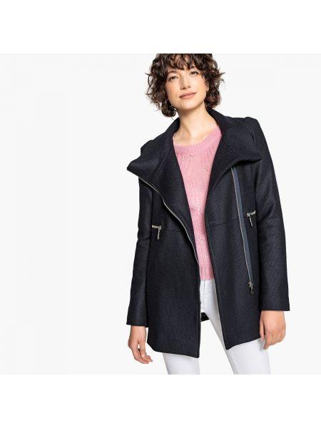 Укороченное пальто на молнии шерстяное La Redoute Collections