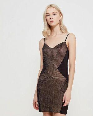 Коричневое вечернее платье Gepur