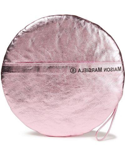 Różowa kopertówka skórzana Mm6 Maison Margiela