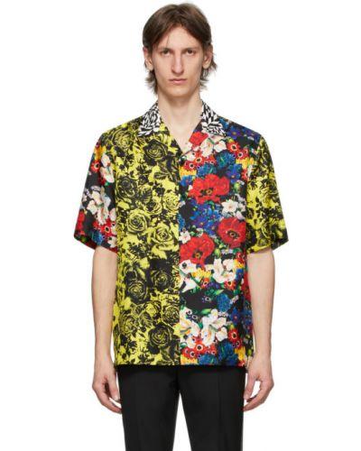 Koszula krótkie z krótkim rękawem jedwab z kołnierzem Versace