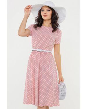 Летнее платье розовое мини Dstrend