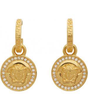 Kolczyki ze sztyftem kolczyki pierścionki grecki Versace
