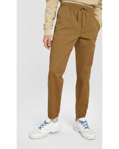 Хлопковые желтые брюки эластичные Ostin