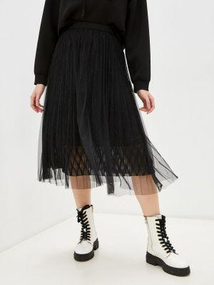Черная плиссированная юбка Softy