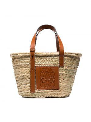Соломенная сумка среднего размера Loewe