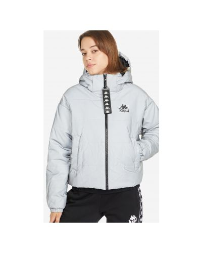 Утепленная куртка - серебряная Kappa