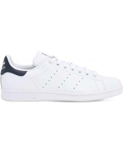 Biały koronkowa skórzany sneakersy Adidas Originals