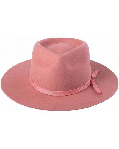 Różowa kapelusz wełniana Lack Of Color