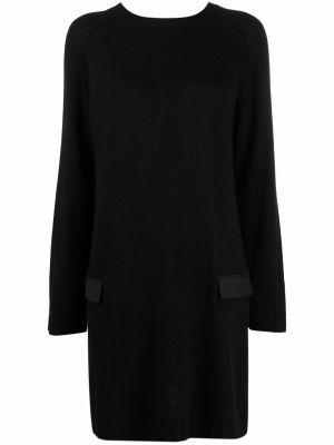 Платье макси с длинными рукавами - черное Semicouture