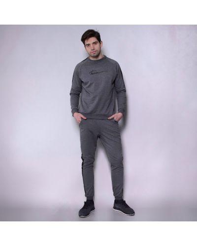 Повседневный спортивный костюм в рубчик на резинке Teamv