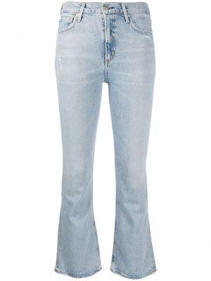Укороченные джинсы синие с карманами Citizens Of Humanity