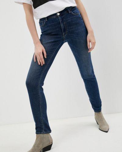 Синие джинсы бойфренды Trussardi