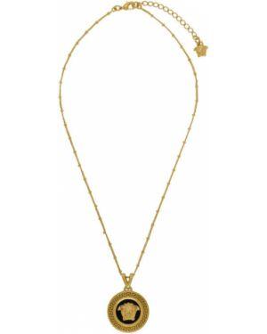 Подвеска на шнурках золотая Versace