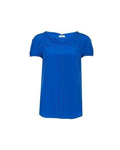 Синяя блузка повседневная Moschino