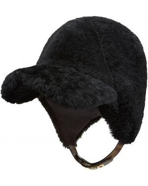 Daszek czarny z logo Fendi