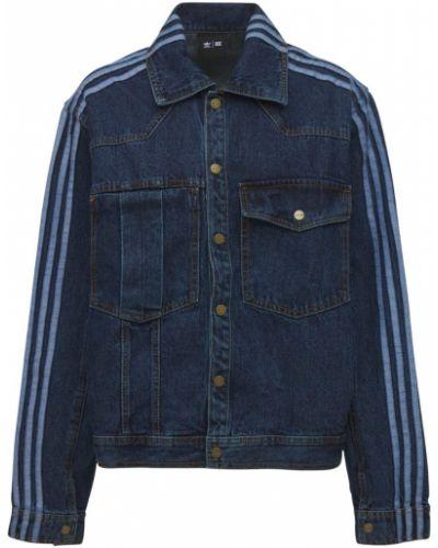 Синяя куртка на пуговицах Adidas X Ivy Park