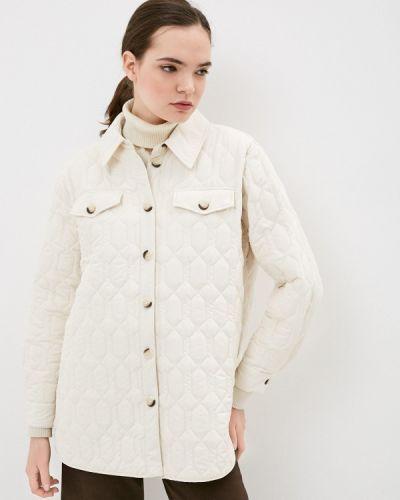 Бежевая утепленная куртка Sela