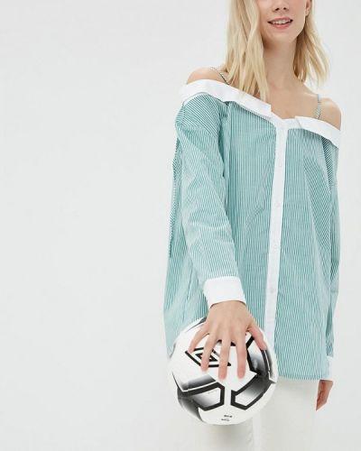 Зеленая блузка с открытыми плечами Ovs