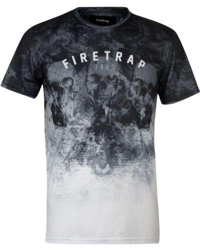 Szara t-shirt z printem Firetrap