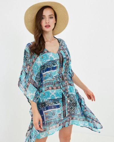 Пляжное бирюзовое пляжное платье Deseo