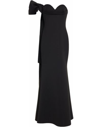 Czarna sukienka rozkloszowana Badgley Mischka